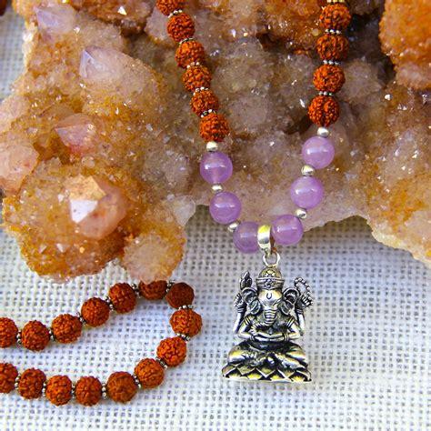 ganesh mala rudraksha amethyst and ganesh mala honoring the sacred