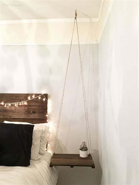 Hanging Headboard by Rustic Headboard With Hanging Bedside Table Hometalk