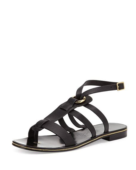 ferragamo gladiator sandals salvatore ferragamo fiamma leather gladiator sandal nero