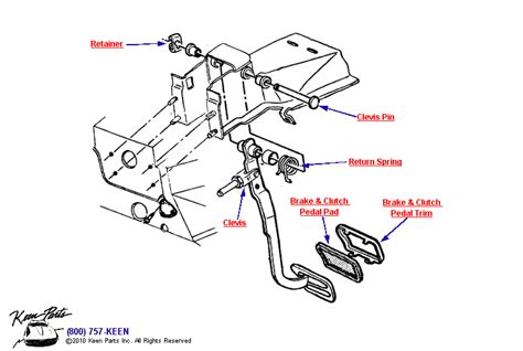 Brake Pedal System Diagram 1978 Corvette Brake Pedal Parts Parts Accessories For