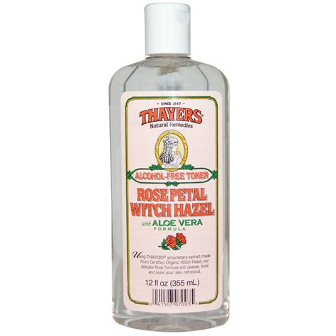 thayers alcohol free rose petal witch hazel with aloe vera 12 fluid ounce thayers petal witch hazel with aloe vera formula free toner 12 fl oz 355 ml