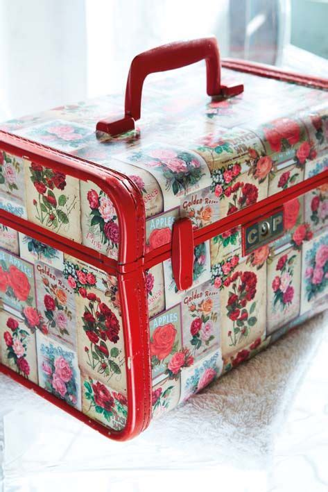 How To Decoupage A Suitcase - 25 great ideas about decoupage ideas on mod