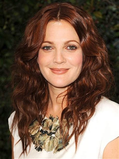 drew barrymore hair color with amazing auburn hair color modern