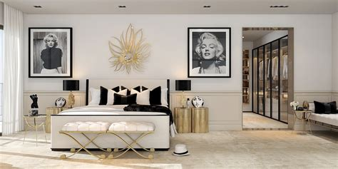 interior design of bedroom in deco style home