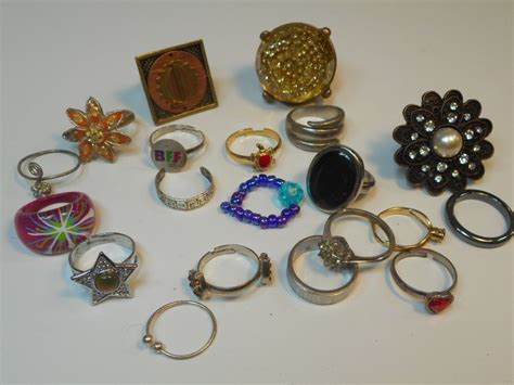lot of costume jewelry rings ebay