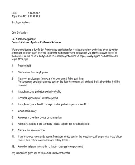 9 Employment Reference Letter Templates Free Sample