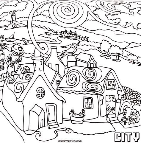 city coloring pages coloring pages to download and print