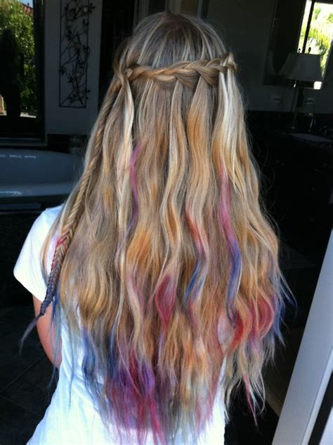hairstyle ideas for dip dyed hair purple and pink dips hair colors ideas