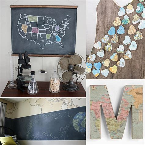 fascinating map decor ideas     wow
