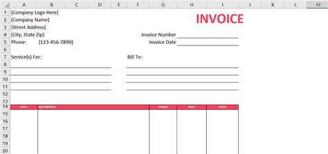 10 Free Excel Templates For Freelance Designers 1stwebdesigner Web Design Invoice Template Excel