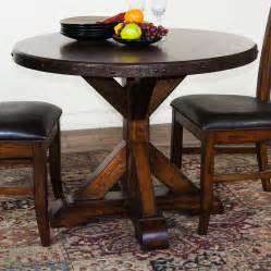 rustic round dining table with leaf www imgkid com the small round dining table glass dining room table set