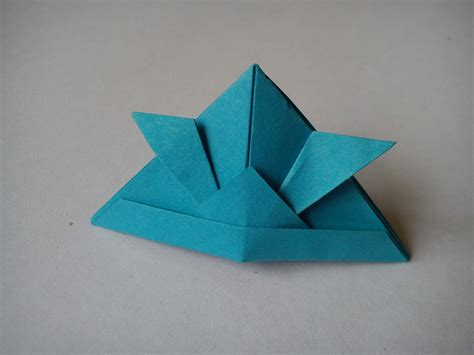 Paper Hat Folding - arts crafts origami for step by step how to make