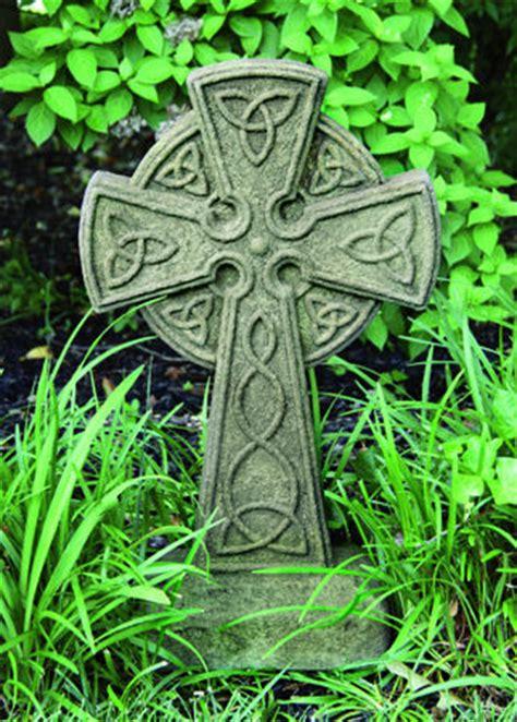 Garden With Cross Celtic Cross Cement Garden Sculpture