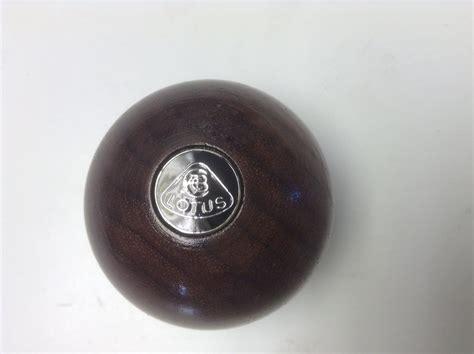 Wooden Gear Knob by Esprit Gear Knob Wooden Lotus Badge Black Silver