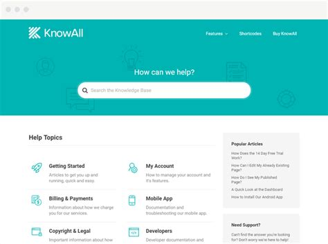 Knowall Knowhow Knowledge Base Wp Theme Latest V1 1 4 Direct Download Deviran Search Engine Website Template