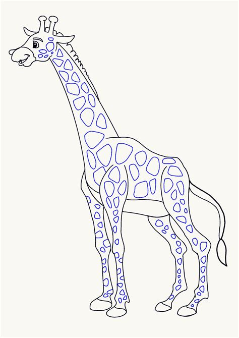 pattern giraffe drawing how to draw a giraffe in a few easy steps easy drawing