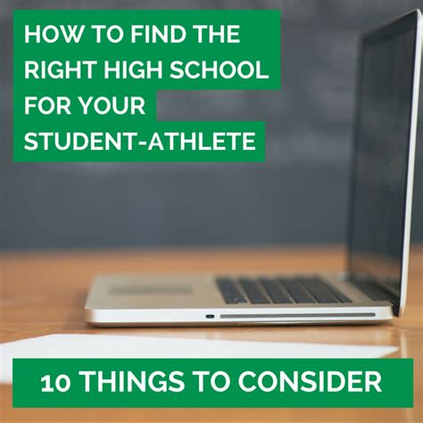 How To Find From Your School 43 How To Find The Right High School For Your Student Athlete