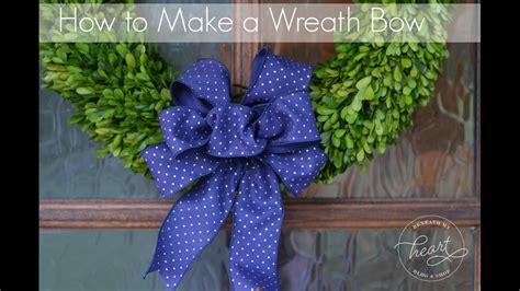 wreath bow youtube