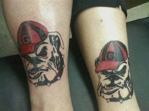 georgia bulldog tattoos bulldog devin lipp artist it s a