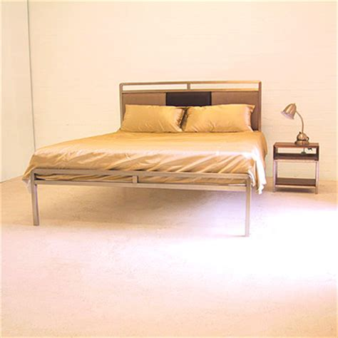stainless steel bed frame redhouse bed frame 81 stainless steel with leather or