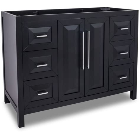 48 inch bathroom vanity cabinet only jeffrey alexander van101 48 black cade contempo collection