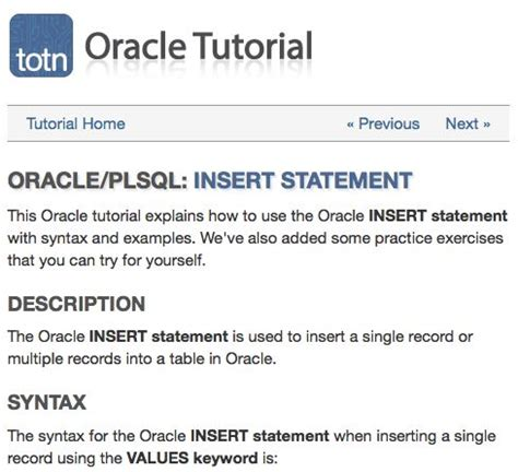 Oracle Update Table by Oracle Sql Update Statement With Tables