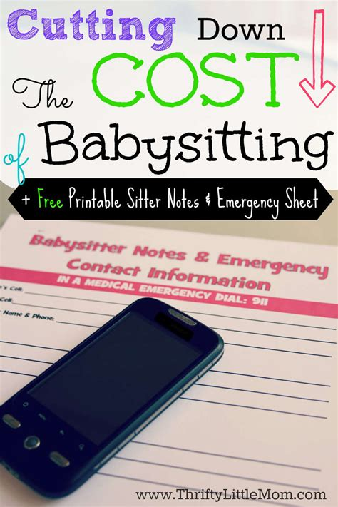 cutting the cost of babysitting 187 thrifty