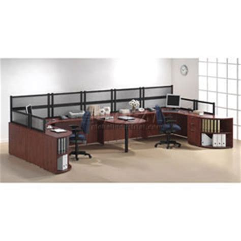 two person peninsula desk desks office collections 2 person workstation with