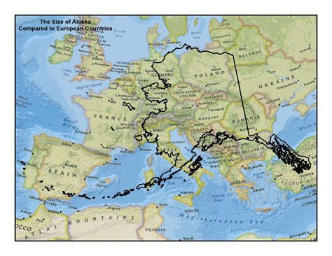 alaska map compared to us mail bag what do you think the misconception of