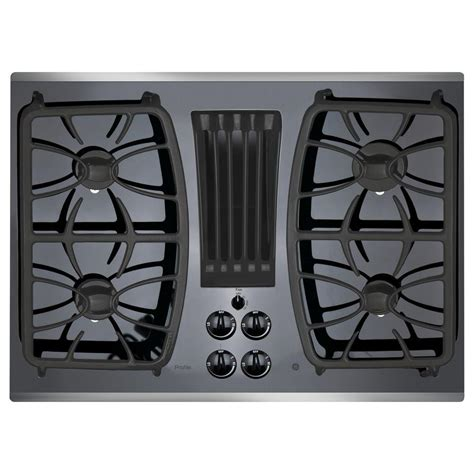 ge profile 30 in gas on glass downdraft gas cooktop in