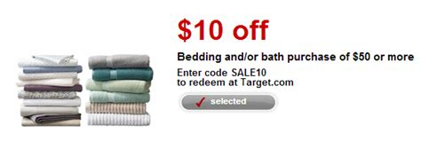 target bedding coupons target 10 off bedding and or bath coupon