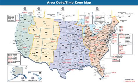 us area code history time zones history on air