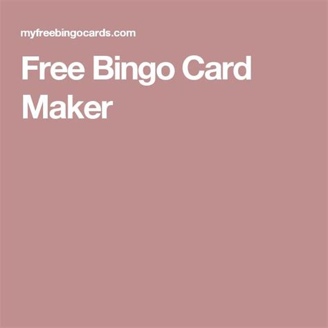 Whats The Best Free Card Template Maker by 25 Best Ideas About Bingo Card Maker On Bingo
