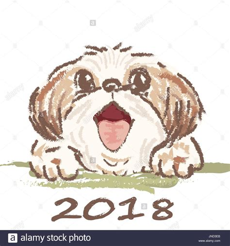 new year 2018 year of the crafts card portrait of a 2018 year of the