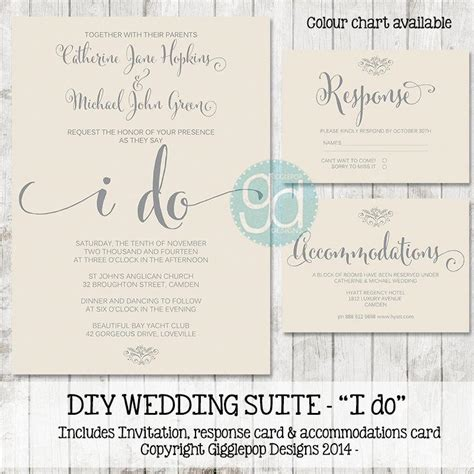printable wedding invitation suite invitation printable wedding invitation suite 2435655