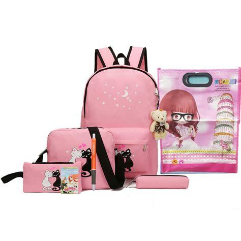 Paket 3 In 1 Tas Cat Navy Murah paket tas ransel anak 8 in 1 sekolah printing kucing pink jakartanotebook