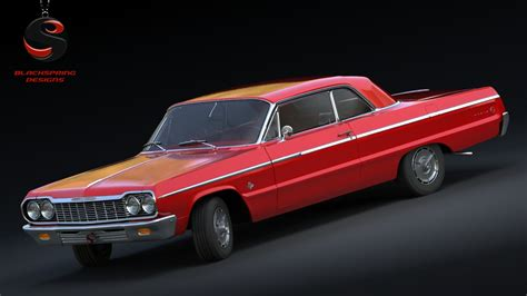 Gm 21 3ds Max Animation 3ds max chevrolet impala ss 409