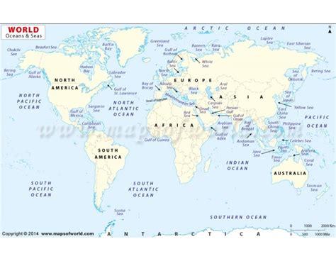 buy world oceans  seas map   map store