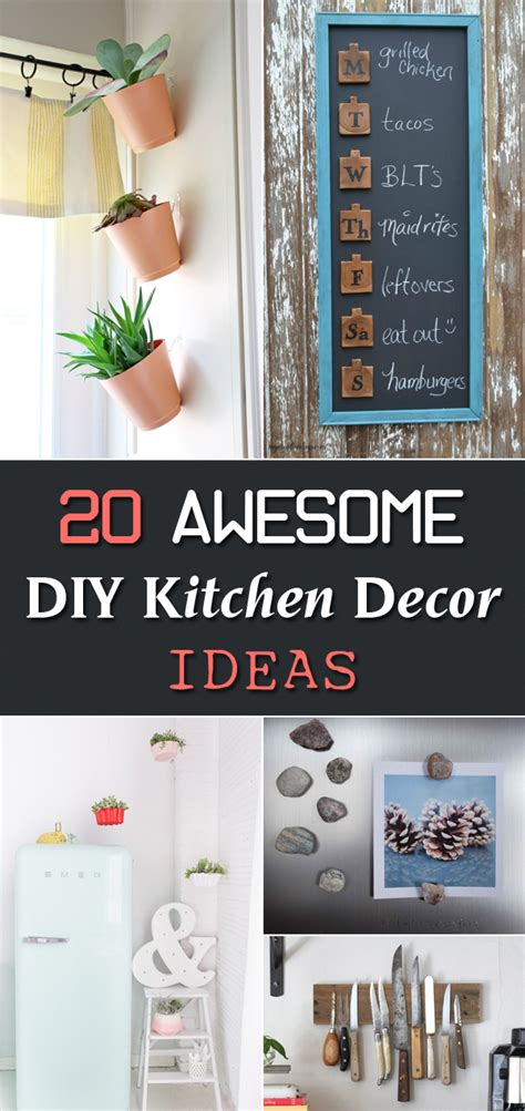 kitchen ideas diy 20 awesome diy kitchen decor ideas