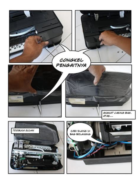 cara reset printer canon mp258 error 5200 cara bongkar disassembly printer canon ip2770 resetter