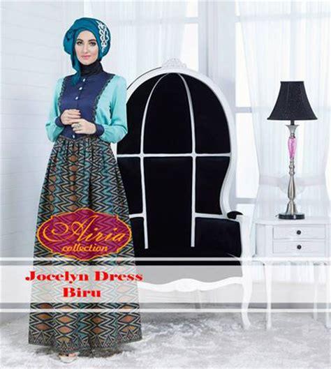 Kimora Dress Gamis Katun jocelyn dress biru by airia baju muslim gamis modern