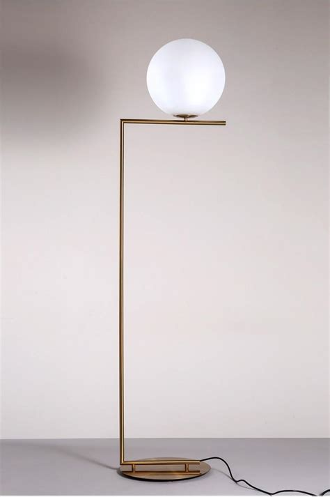 nordic glass ball floor lamp art gold body  ball stand lamp  home deco material vertical