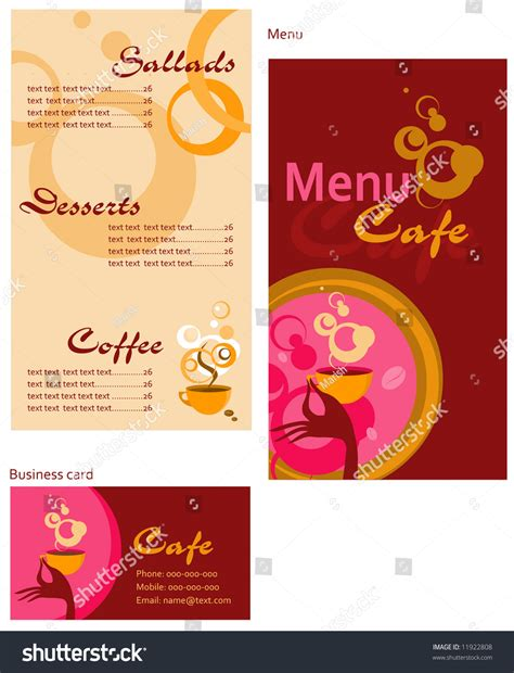 corporate menu card template template designs of menu and business card for cafe