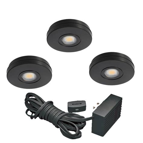 juno black led cabinet task light kit uk3stl