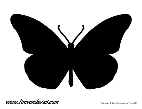 Geometric Wall Stickers monarch butterfly silhouette tim s printables