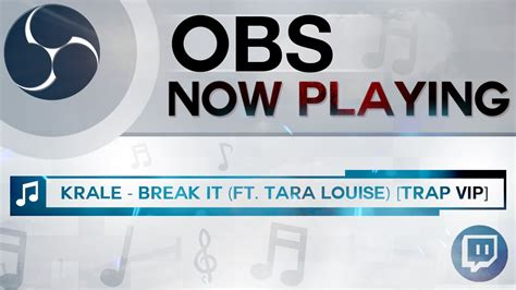 now playing obs how to add now playing overlay current song displ