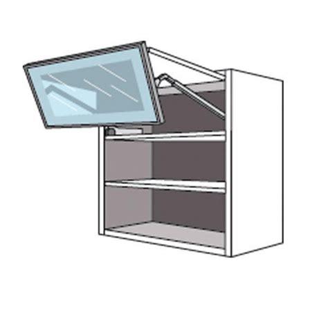 Meuble de cuisine haut 2 portes pliantes 1 pleine/1 vitrée