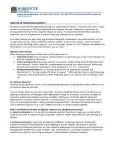 Objectives Statement Resume Objective Examples How To Write A Resume