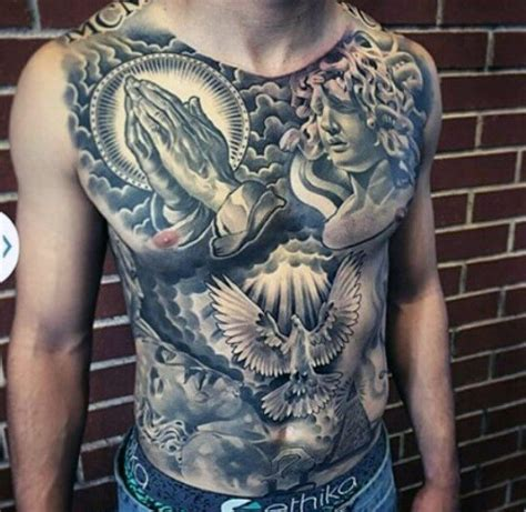 religious chest tattoos for men 100 awesome tattoos for guys manly ink design ideas
