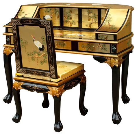 japanese style desks chinoiserie harpsichord style desk with chair asian